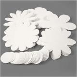 Blumen, Weiß, D: 20 cm, 400 g, 5x20 Stck./ 1 Pck.