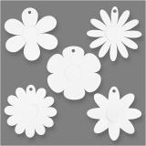 Blumen, Weiß, D: 20 cm, 400 g, 5x3 Stck./ 1 Pck.