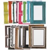 Rahmen, Sortierte Farben, Größe 26,2x18,5 cm, 64 Bl. sort./ 1 Pck.