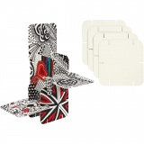 Bauteile, Weiß, Größe 9,3x9,3 cm, 200 Stck./ 1 Pck.