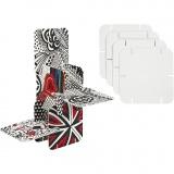 Bauteile, Weiß, Größe 9,3x9,3 cm, 20 Stck./ 1 Pck.