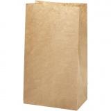 Papiertüten, Braun, Größe 15x9x27 cm, 50 g, 100 Stck./ 1 Pck.