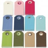 Farbige Geschenkanhänger, Sortierte Farben, Größe 6x3 cm, Inhalt kann variieren , 200 sort./ 1 Pck.