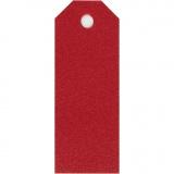 Manila-Anhänger - Sortiment, Rot, Größe 3x8 cm, 220 g, 20 Stck./ 1 Pck.