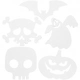 Halloween-Stanzformen, Weiß, Größe 25x17 cm, 230 g, 16 Stck./ 1 Pck.