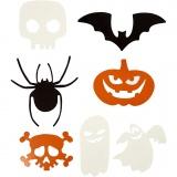 Halloween-Motive, Größe 5-10 cm, 180 g, 50 Stck./ 1 Pck.