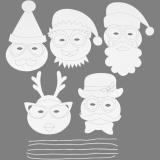 Weihnachts-Masken, Weiß, H: 25-35 cm, B: 20 cm, 230 g, 16 Stck./ 1 Pck.