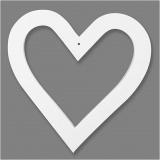 Herzrahmen, Weiß, Größe 18x18 cm, 230 g, 16 Stck./ 1 Pck.