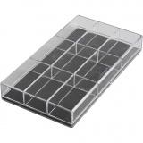 Aufbewahrungsbox, H: 2.4 cm, L: 16.5 cm, B: 9,3 cm, 100 Stck./ 1 Pck.