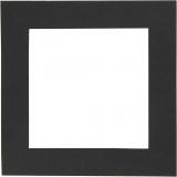 Passepartout-Rahmen, Schwarz, Größe 12,5x12,5 cm, 300 g, 25 Stck./ 1 Pck.