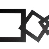 Passepartouts, Schwarz, dicke 0,4 mm, 270 g, 75 Stck./ 1 Pck.