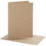 Karten & Kuverts, Kartengröße 10,5x15 cm, Umschlaggröße 11,5x16,5 cm, 10 Set/ 1 Pck.