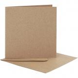 Karten & Kuverts, Kartengröße 12,5x12,5 cm, Umschlaggröße 13,5x13,5 cm, 10 Set/ 1 Pck.