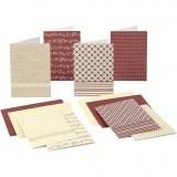 Blanco-Karten mit Umschlag, Kartengröße 10,5x15 cm, 220 g, 16 Stk/ 1 Pck