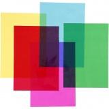 Cellophan, Sortierte Farben, 210x297 mm, 5x20 Bl./ 1 Pck.