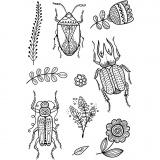 Silikonstempel, Insekten, 11x15,5 cm, 1 Bl.