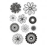 Silikonstempel, Blüten, 11x15,5 cm, 1 Bl.