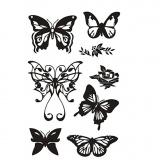Silikonstempel, Schmetterlinge, 11x15,5 cm, 1 Bl.