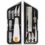 Messer-, Meißel- und Säge-Set, L: 15 cm, B: 3 cm, 1 Set