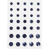 Strasssteine, Blau, konisch rund, Größe 6+8+10 mm, 35 Stck./ 1 Pck.