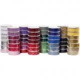 Klebeband mit Spitzenmuster - Sortiment, Sortierte Farben, B: 15 mm, 56x3 m/ 1 Pck