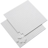 3D-Klebepads, Weiß, Größe 5x5 mm, dicke 2 mm, 2 Bl./ 1 Pck., 2x400 Stck.