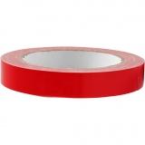 Isolier-/Gewebeband, Rot, B: 19 mm, 25 m/ 1 Rolle