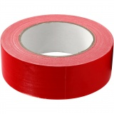 Isolier-/Gewebeband, Rot, B: 38 mm, 25 m/ 1 Rolle