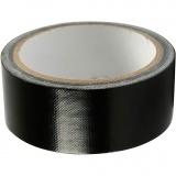 Isolier-/Gewebeband, Schwarz, B: 38 mm, 25 m/ 1 Rolle