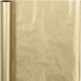 Geschenkpapier , Gold, B: 50 cm, 60 g, 5 m/ 1 Rolle