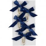 Metallklammern, Blau, Größe 40x70 mm, 5 Stk/ 1 Pck