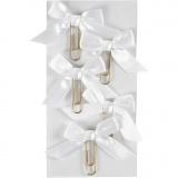 Metallklammern, Weiß, Größe 40x70 mm, 5 Stk/ 1 Pck