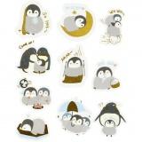 Motiv-Sticker, Pinguine, Größe 40-53 mm, 30 Stck./ 1 Pck.