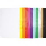 Glanzpapier, Sortierte Farben, 32x48 cm, 80 g, 11x25 Bl./ 1 Pck.