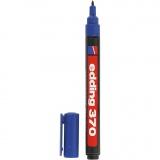edding Marker 370, Blau, Strichstärke 1 mm, 1 Stck.