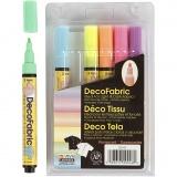 Deko-/Stoffmalstifte - Sortiment, Neonfarben, Strichstärke 3 mm, 6 Stck./ 1 Pck.