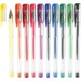 Gelschreiber, Sortierte Farben, Strichstärke 0,8 mm, 10 sort./ 1 Pck.