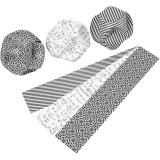 Click Ornaments, D: 9 cm, Größe 5,5x28,4 cm, 9 Set/ 1 Pck.
