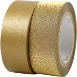 Design-Klebeband, Gold, B: 15 mm, 2 Rolle/ 1 Pck
