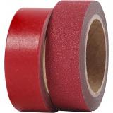 Design-Klebeband, Rot, B: 15 mm, 2 Rolle/ 1 Pck