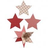 3D-Sterne, D: 15 cm, 300 g, 3 Stk/ 1 Pck