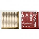 Deko- und Transferfolie, Gold, Rot, Weiß, Nussknacker, Weihnachtsmann, Ballerina, 15x15 cm, 4 Bl./ 1 Pck.