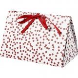 Geschenkverpackung, Rot, Punkte, Größe 15x7x8 cm, 250 g, 3 Stck./ 1 Pck.