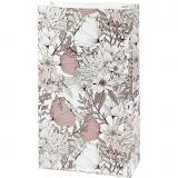Papiertüten, Beige, Braun, Rosa, Weiß, H: 21 cm, Größe 6x12 cm, 80 g, 8 Stck./ 1 Pck.