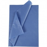 Seidenpapier, Blau, 50x70 cm, 14 g, 25 Bl./ 1 Pck.