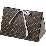 Geschenkverpackung, Dunkelgrau, Weiß, Anker, Größe 15x7x8 cm, 250 g, 3 Stck./ 1 Pck.