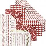 Origami-Papier, Rot, Größe 10x10 cm, 80 g, 40 Bl./ 1 Pck.