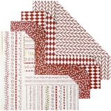 Origami-Papier, Rot, Größe 15x15 cm, 80 g, 40 Bl./ 1 Pck.