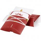 Geschenkverpackung, Gold, Rot, Weiß, Nussknacker, Größe 14,9x9,4x2,5 cm, 300 g, 3 Stck./ 1 Pck.