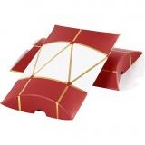 Geschenkverpackung, Gold, Rot, Weiß, Trommel, Größe 14,9x9,4x2,5 cm, 300 g, 3 Stck./ 1 Pck.